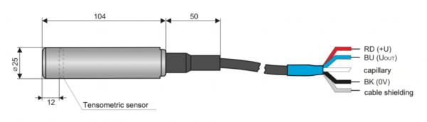 Cấu tạo cảm biến thuỷ tĩnh D2415L